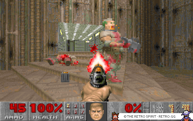 Skjermbilde fra Doom II: Hell on Earth