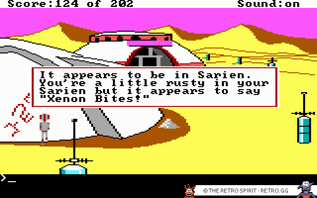 Skjermbilde fra Space Quest: The Sarien Encounter