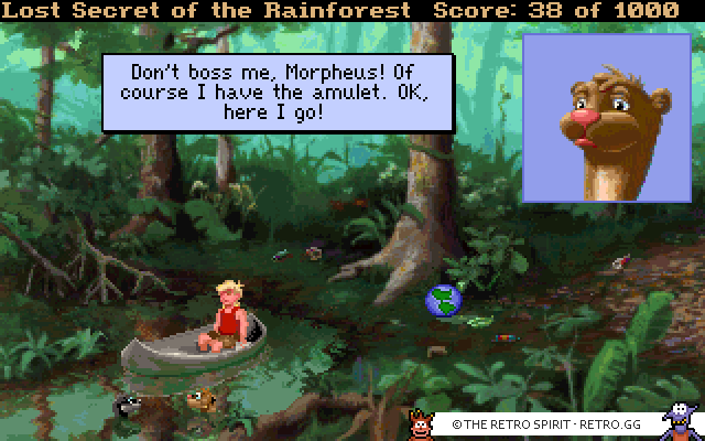 Skjermskudd fra EcoQuest 2: Lost Secret of the Rainforest