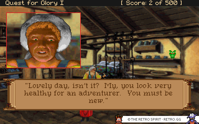Skjermskudd fra Quest for Glory I: So You Want To Be A Hero?