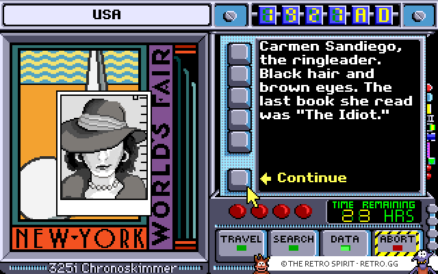Skjermskudd fra Where in Time is Carmen Sandiego?