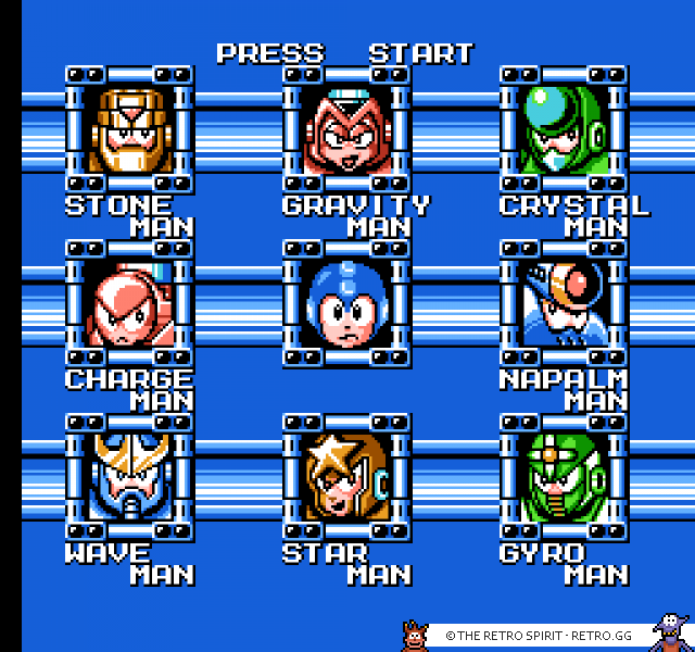 Boss selection screen