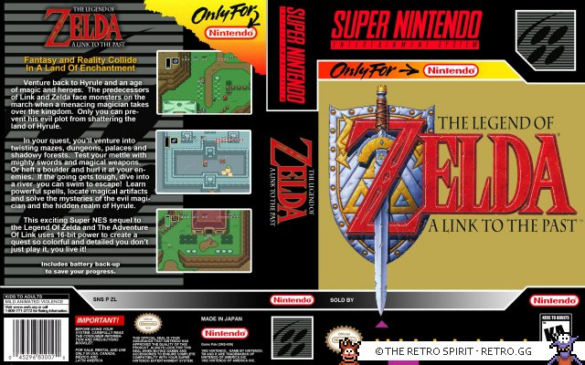 The Legend of Zelda - A Link to the Past SNES Cover (Updated)