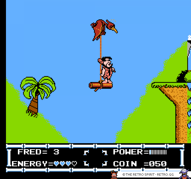 The Flintstones On a flying bird platform