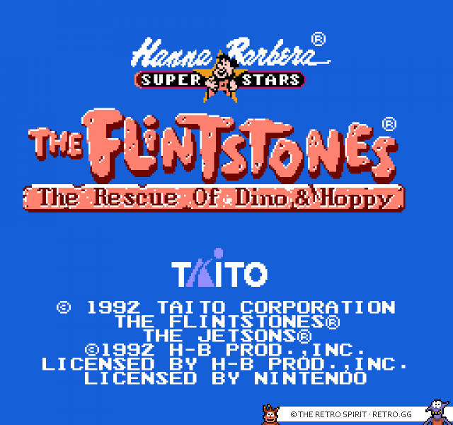 The Flintstones main menu