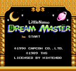 Little Nemo - The Dream Master Main menu