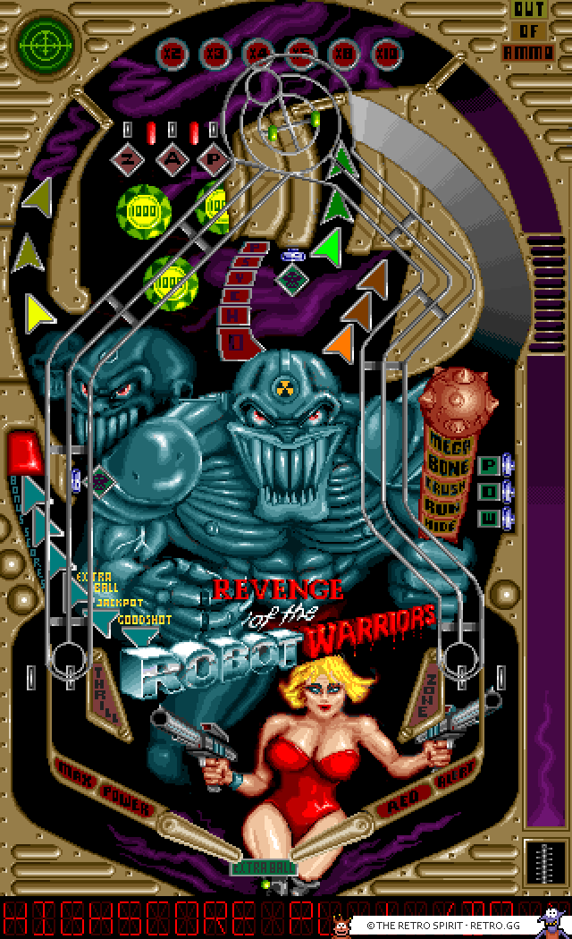 Pinball Dreams 2 - Revenge of the Robot Warriors table