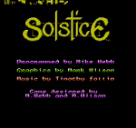 Solstice: The Quest for the Staff of Demnos (NES, 1990)
