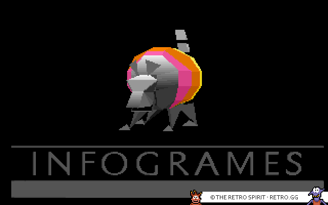 The Infogrames logo in rotating 3D gloryness.