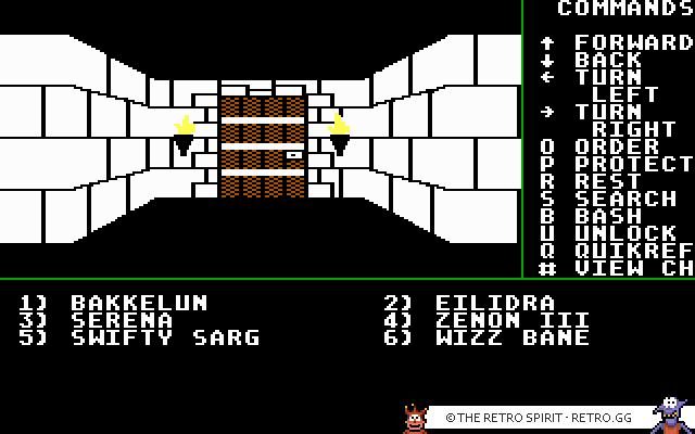 Skjermbilde fra Might and Magic: Book 1