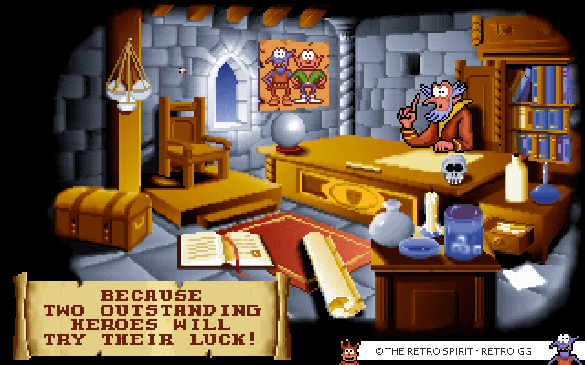 Gobliins 2: The Prince Buffoon introduction screen.