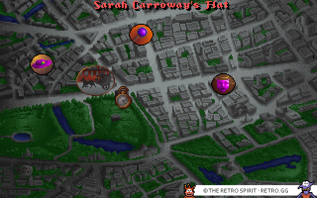 Overview map, going to Sarah Corroways apartment