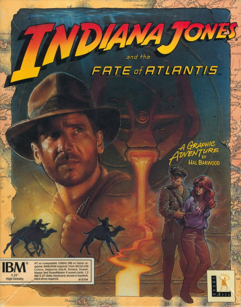 Game cover for Indiana Jones and the Fate of Atlantis