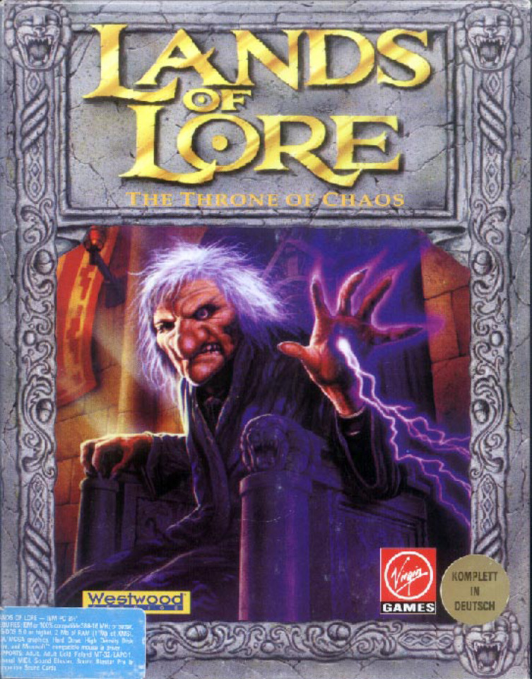 Game cover for Lands of Lore: The Throne of Chaos