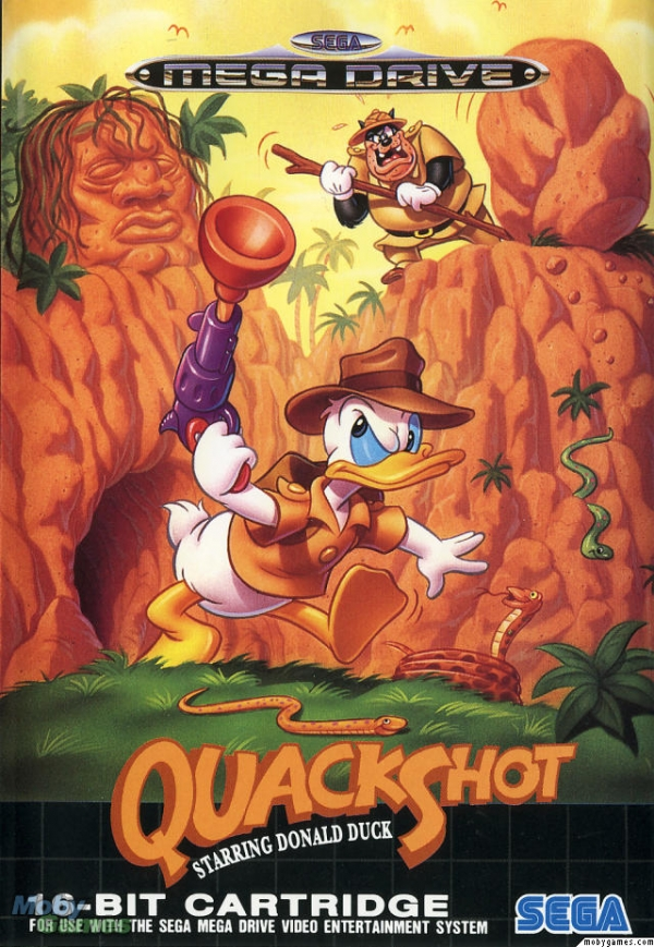 Game cover for QuackShot starring Donald Duck