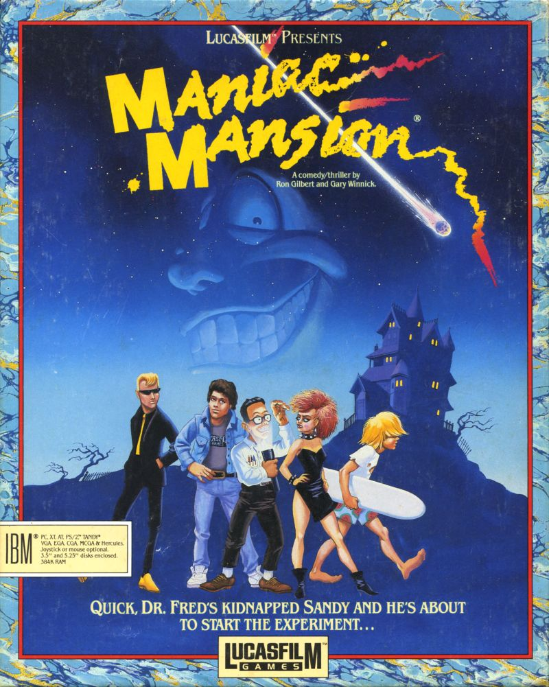 Game cover for Maniac Mansion