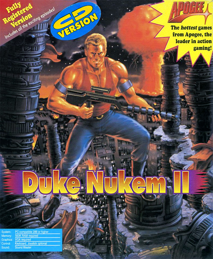 Game cover for Duke Nukem II