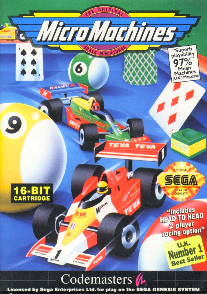 Game cover for Micro Machines